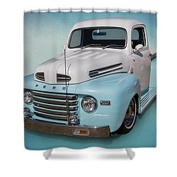 Pastel Pickup Shower Curtain