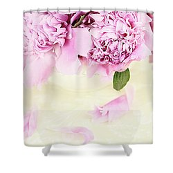 Pastel Pink Peonies  Shower Curtain