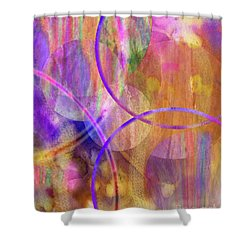 Pastel Planets Shower Curtain by John Beck