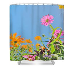 Pastel Poppies Shower Curtain
