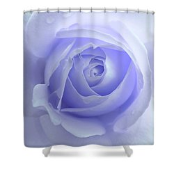 Pastel Purple Rose Flower Shower Curtain by Jennie Marie Schell