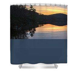 Pastel Reflections With Pine Tree Shower Curtain