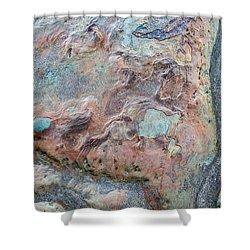 Pastel Rock Patterns Shower Curtain