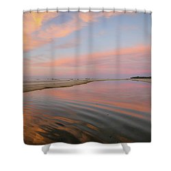 Pastel Skies And Beach Lagoon Reflections Shower Curtain