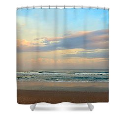 Pastel Sunrise Shower Curtain by Betty Buller Whitehead