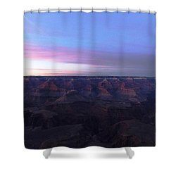 Pastel Sunset Over Grand Canyon Shower Curtain by Adam Cornelison