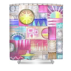 Pastel Symmetry Shower Curtain
