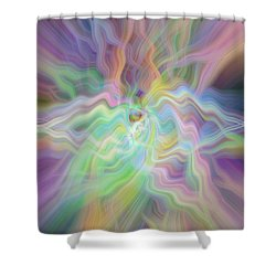 Pastels Shower Curtain by Cherie Duran