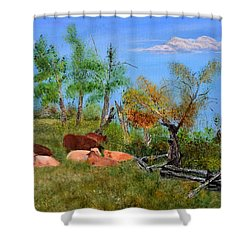 Pasteurized Shower Curtain