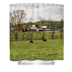 Shower Curtain featuring the photograph Pastoral by Larry Ricker