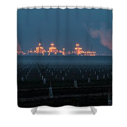 Pastoria Power Plant Shower Curtain