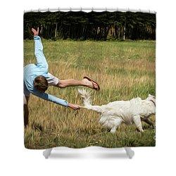 Pasture Ballet Human Interest Art By Kaylyn Franks   Shower Curtain