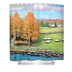 Pasture Happy Shower Curtain
