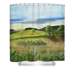 Pasture Love At Chateau Meichtry - Ellijay Ga Shower Curtain