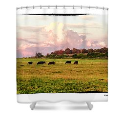 Pasture Shower Curtain by R Thomas Berner