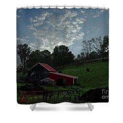 Pasture Under Elements Shower Curtain