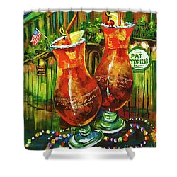 Pat O' Brien's Hurricanes Shower Curtain by Dianne Parks