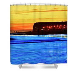 Patagonia Beach. Shower Curtain by Bernardo Galmarini