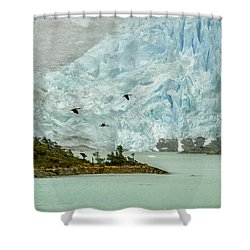 Patagonia Glacier Shower Curtain by Alan Toepfer