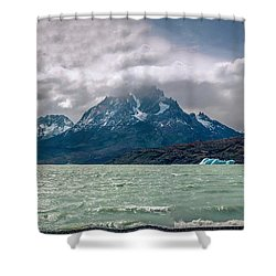 Patagonia Lake Shower Curtain by Andrew Matwijec