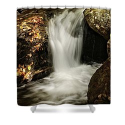 Patch Of Light On Rocks Shower Curtain