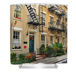 Patchin Place - Ee Cumming's Historic Home Shower Curtain by Randy Aveille