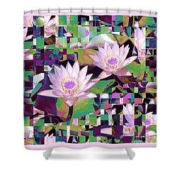 Patchwork Quilt Shower Curtain by Karen Lewis