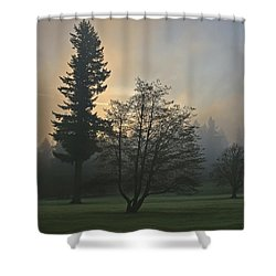 Patchy Morning Fog Shower Curtain