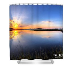 Patcong Rays Shower Curtain by John Loreaux