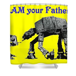 Paternal Declaration Shower Curtain by Paul Van Scott