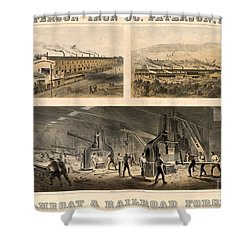 Paterson Iron Company Shower Curtain by Granger