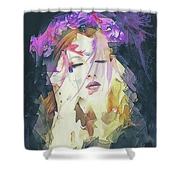 Path Abstract Portrait Shower Curtain