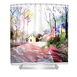 Path In Colors Shower Curtain