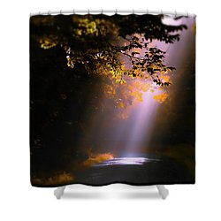 Path Less Traveled Shower Curtain