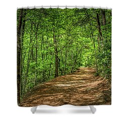 Path Less Travelled Shower Curtain
