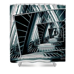 Path Of Winding Rails Shower Curtain