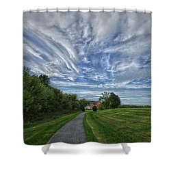 Shower Curtain featuring the photograph Path by Robert Geary