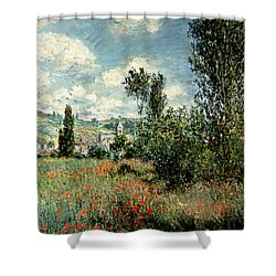 Path Through The Poppies Shower Curtain
