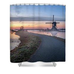 Path Through Windmill City Shower Curtain