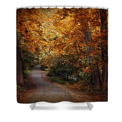 Path To Autumn  Shower Curtain by Jessica Jenney