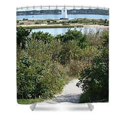 Path To Edgartown Lighthouse Shower Curtain by Carol Groenen