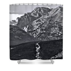 Shower Curtain featuring the photograph Path To Longs Peak by Dan Sproul