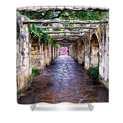 Path To The Alamo Shower Curtain by Anthony Jones
