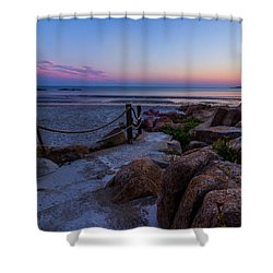 Path To The Beach Shower Curtain by Tim Kirchoff