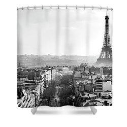 Path To The Eiffel Tower Paris Shower Curtain