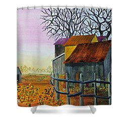 Shower Curtain featuring the painting Path To The Past by Jack G Brauer