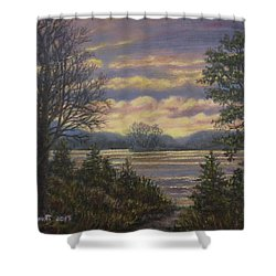Path To The River Shower Curtain by Kathleen McDermott