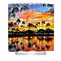 Shower Curtain featuring the digital art Path To The Sea by DJ Florek