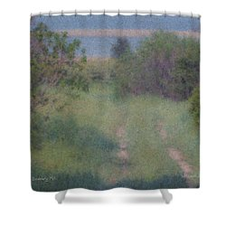 Path To The Sea - Duxbury Ma Shower Curtain