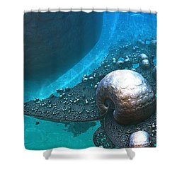 Paths Between Planets Shower Curtain